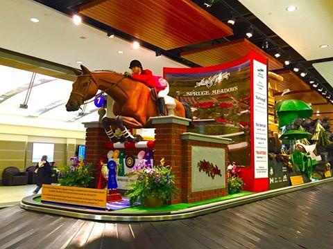 カルガリーは、カーボーイの街として有名で、空港に大きなロデオの像があります。